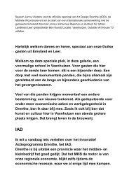 Hartelijk welkom dames en heren, speciaal aan ... - Provincie Drenthe