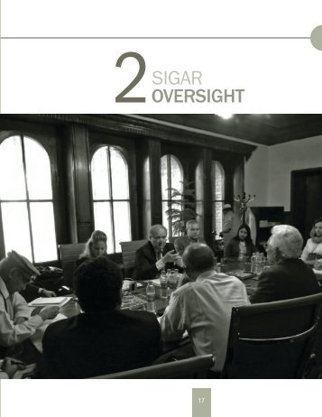 Section 2: SIGAR Oversight Activities - Special Inspector General for ...