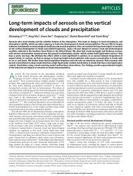Long-term impacts of aerosols on the vertical development of clouds ...