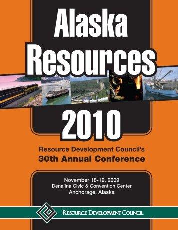 Alaska Resources - Resource Development Council