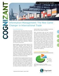 Information Management: The New Game Changer in ... - Cognizant