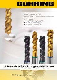 Universal- & Synchrongewindebohren - Gühring oHG