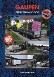 BRUKERHÅNDBOK - Gaupen-Henger