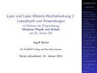 Teil 2 Laserphysik - Skript aktualisiert 24.1.2011 - Mitarbeiter ...