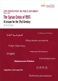 The Syrian Crisis of 1957 - USC Center on Public Diplomacy