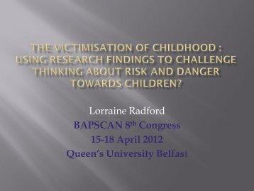 Dr Lorraine Radford - BASPCAN