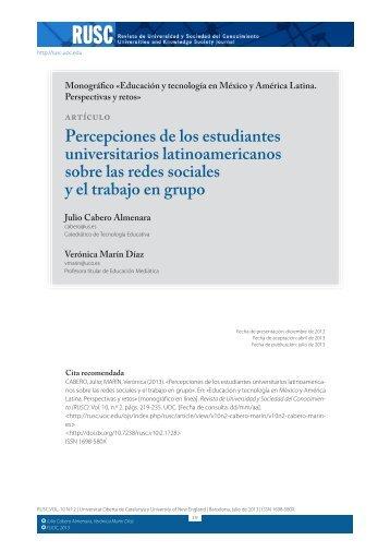 Percepciones de los estudiantes universitarios latinoamericanos ...