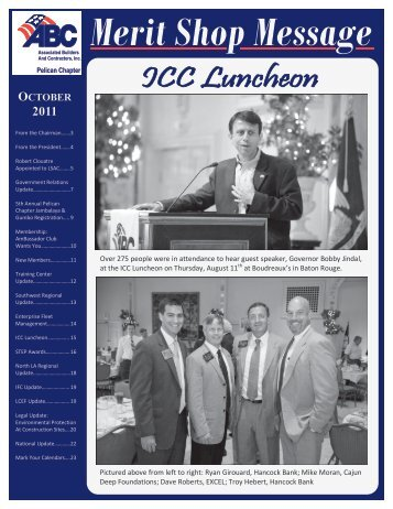 October 2011 Newsletter - ABC