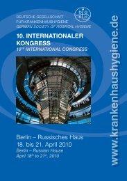 10. InternatIonaler Kongress Berlin - Deutsche Gesellschaft für ...