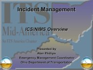 ICS/NIMS Overview - ITS Midwest