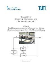 AVC-Motoraufhängung - Lehrstuhl für Regelungstechnik