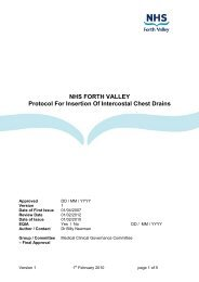 Chest Drains - NHS Forth Valley