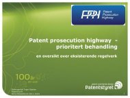 Patent prosecution highway - prioritert behandling - Biotekforum