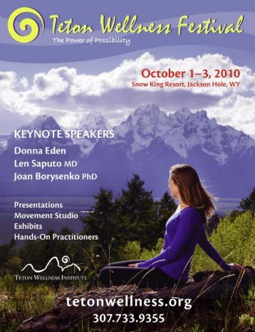 Program (PDF) - Teton Wellness Institute