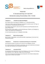 Protokoll 2013 - Betriebsunterhalt