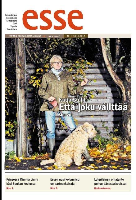 Esse 42/2012 (pdf) - Espoon seurakuntasanomat