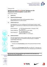 Selektionskonzept Diving für die Teilnahme an den Olympischen ...