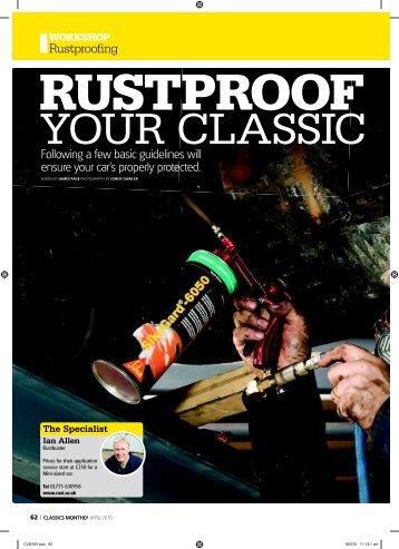 Rustproofing - Ferrugens & Companhia