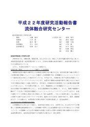 平成22年度研究活動報告書 流体融合研究センター - 東北大学 流体 ...
