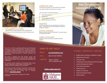 Incoming Student Flyer - Alabama A&M University