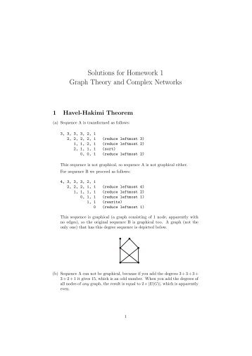 solutions for homework 4 graph theory and complex networks rh yumpu com