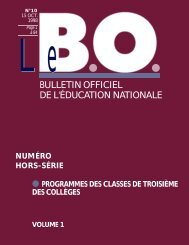Programmes de troisième - Ministère de l'Éducation nationale