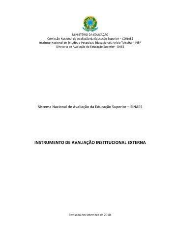 INSTRUMENTO DE AVALIAÇÃO INSTITUCIONAL EXTERNA - Inep