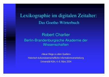 Lexikographie im digitalen Zeitalter_2005 - CEEC