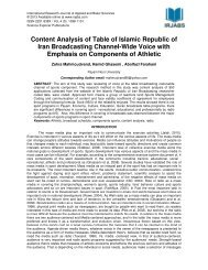 Content Analysis of Table of Islamic Republic of Iran Broadcasting ...