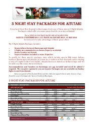 3 night stay packages for aitutaki - Island Hopper Vacations