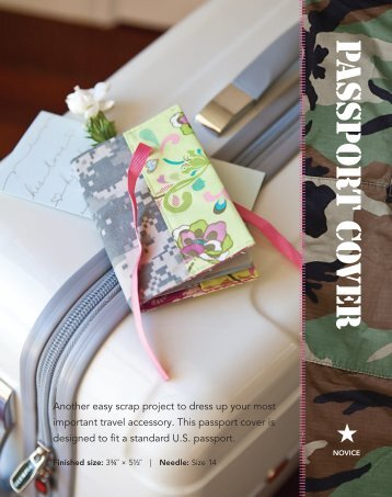 Passport Cover PDF Pattern - Sew Mama Sew
