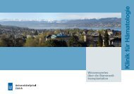 Broschüre (PDF) - Klinik für Hämatologie - UniversitätsSpital Zürich
