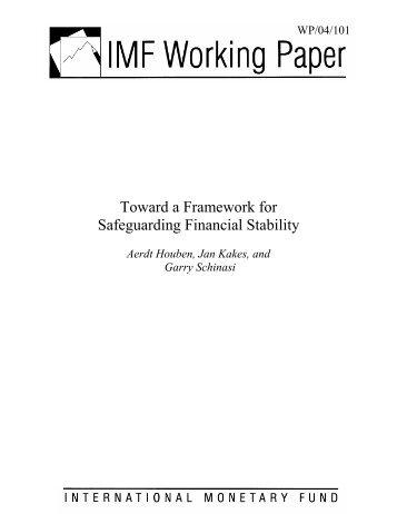 Toward a Framework for Safeguarding Financial Stability -- Aerdt ...