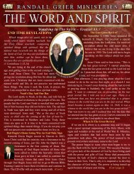March 2010 Newsletter - Randall Grier Ministries