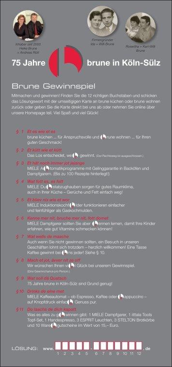 75 Jahre brune in Köln-Sülz - Brune Küchen