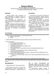 Diabetes Mellitus - Escola Médica Virtual da Faculdade de Medicina ...