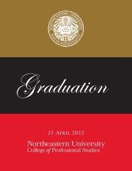 21 APRIL 2012 - Northeastern University College of Professional ...