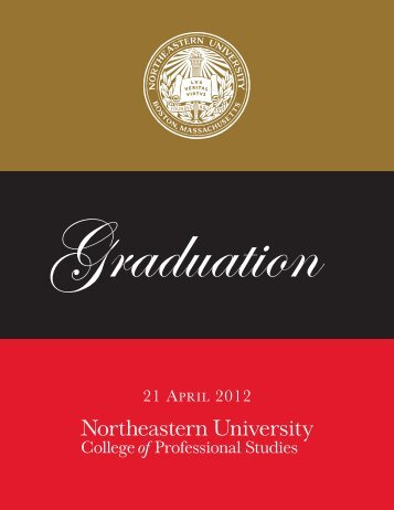 21 APRIL 2012 - Northeastern University College of Professional ...