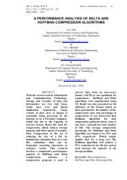 a performance analysis of delta and huffman compression algorithms