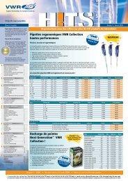 Pipettes ergonomiques VWR Collection hautes ... - Vwr-cmd.com