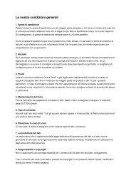 Le nostre condizioni generali - Sutter GmbH