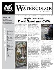August, 2009 - California Watercolor Association