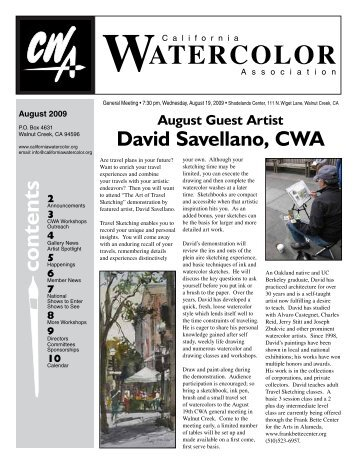 August, 2009 - California Watercolor Association