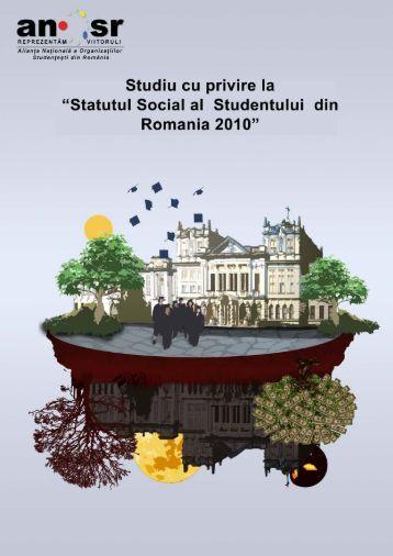 Studiu ANOSR cu privire la Statutul Social al Studentului din România