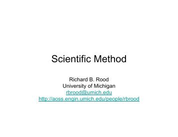 Scientific Method Scientific Method - Climateknowledge.org