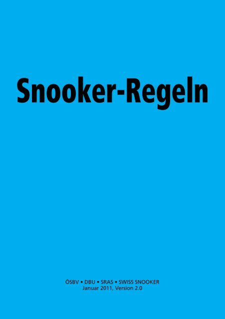 Snooker-Regeln - Snooker Referees