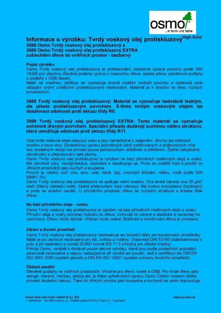 f08d9e59d3cd Informace o výrobku  Tvrdý voskový olej protiskluzový - AU-MEX