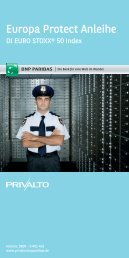 Europa Protect Anleihe - BNP Paribas