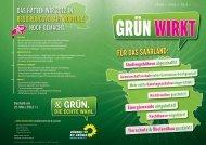 """Flyer """"Grün wirkt"""" mit der Bilanz von 2010 und 2011"""