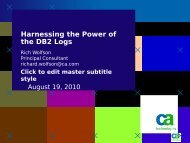 Harnessing the Power of the DB2 Logs - neodbug